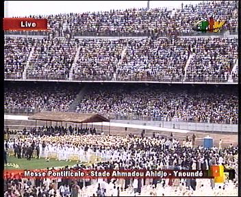 CRTV images of Pope's giant mass