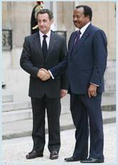 Paul Biya and Nicolas Sarkozy