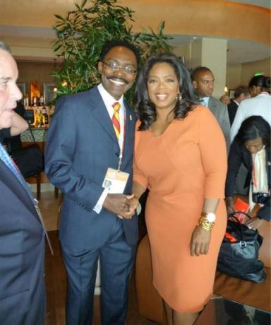 Makuna Tande with Oprah Winfrey