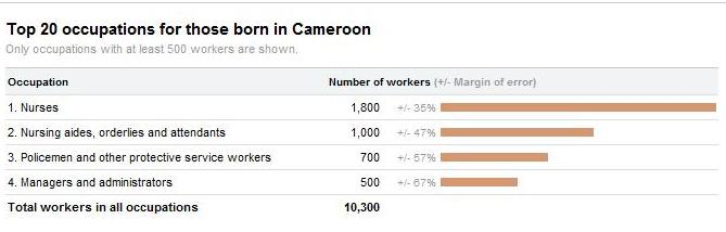 Cameroon immigrants in the US-2
