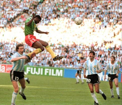 Omam Biyik Scores Against Argentina