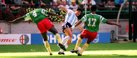 The No-Nonsense Marking of Maradona by Cameroon