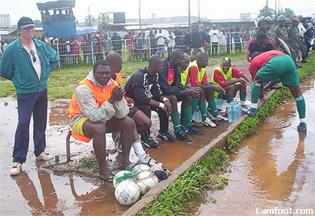 Reserve Bench Mankon Stadium Bamenda