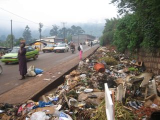 Streets in Cameroon mirror the rulers