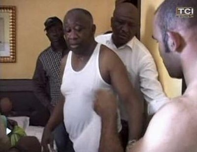 Laurent Gbagbo after arrest