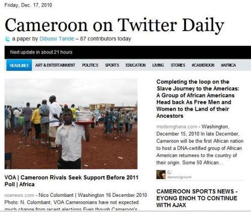 Cameroon on twitter