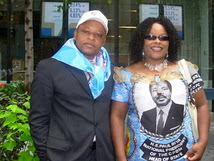 Lady Kate Njeuma in full CPDM party attire