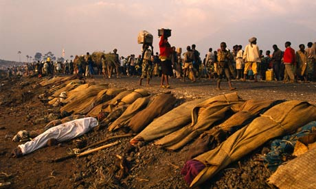 Rwandan Refugees On the Road to Goma (1994)