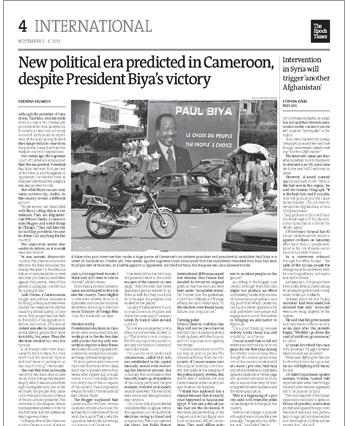 Epoch Times On Biya Victory