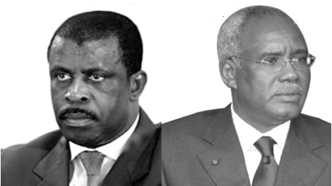 Ex-Prime Minister Ephraim Inoni and ex-Minister of State Hamidou Marafa