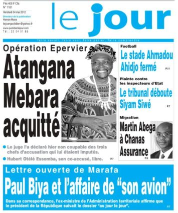 Mebara verdict in Le Jour