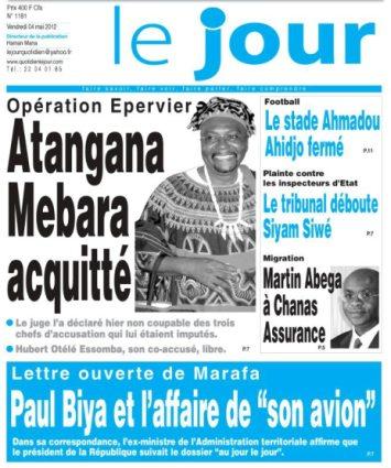 Mebara verdict in Le Jour