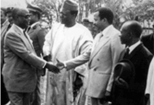 Ahmadou Ahidjo; ST Muna; Paul Biya; JN Foncha