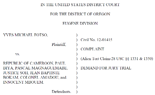 Fotso lawsuit