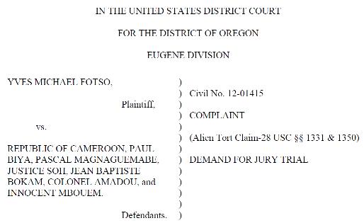 Fotso lawsuit