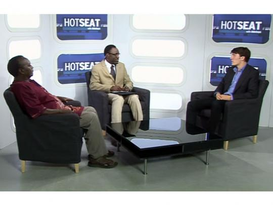 Hotseat host - Akintayo and guests - Dr Mashate and James Schneider
