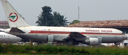The GIA Boeing 767 abandoned at the Douala Airport