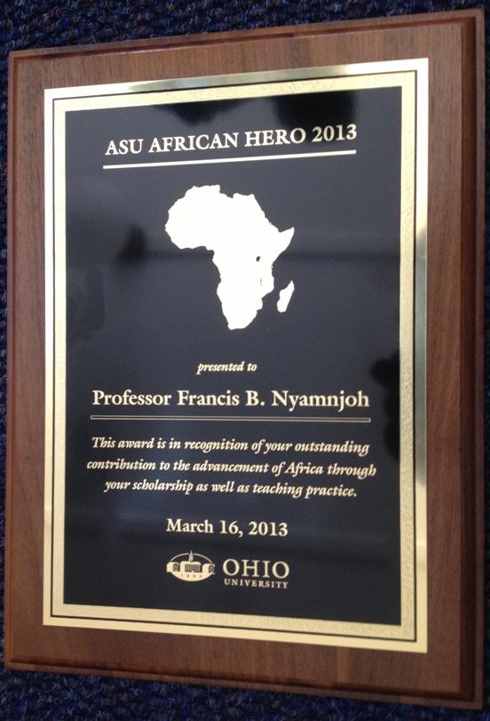 African Hero 2013 Award