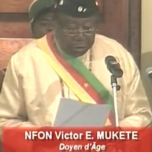Nfon Victor Mukete Presides 1st session of Cameroon Senate