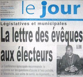 Le Jour_ Election Pastoral Letter