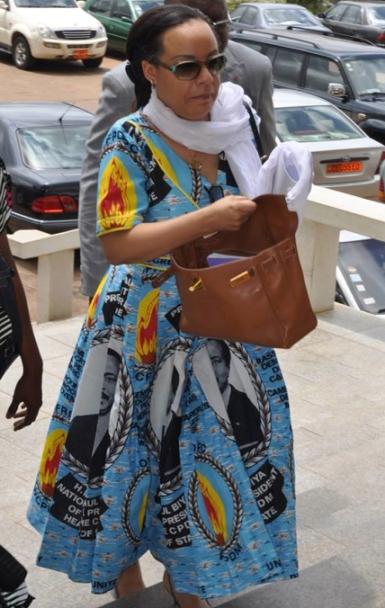 Aminatou Ahidjo in CPDM Uniform