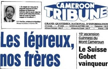 Cameroon Tribune 29 janvier 1990- Gobet Vainqueur