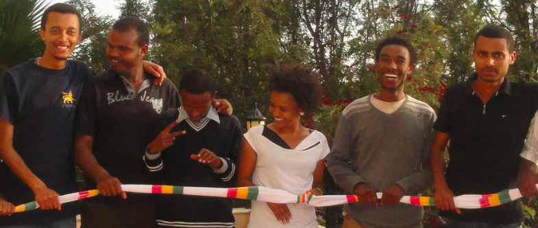 Zone 9 bloggers in Addis Ababa, all arrested on April 25. Photo by Endalk, used with permission.