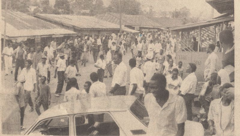 SDF sympathizers in Bamenda may 26, 1990