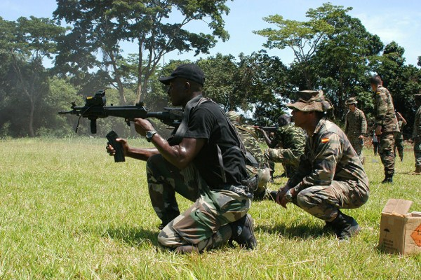 Members of Cameroon's Rapid Intervention Battalion in Training