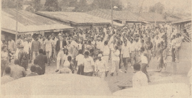 Demonstrators at SDF rally May 26 1990
