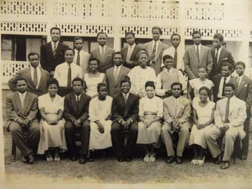Cameroon Students at the University of Ibadan in 1958-59 with Dr. Nasah as President