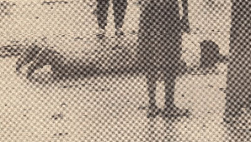 Dead demonstrator at SDF launch May 36, 1990