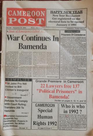 Cameroon Post December 1992